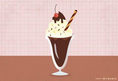 Diseño vectorial de batido de chocolate