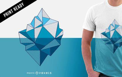 Ilustración de iceberg para diseño de camiseta.