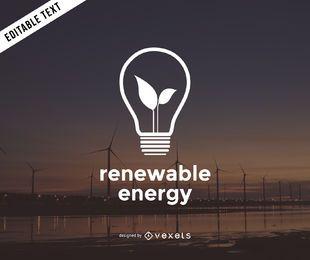 Modelo de logotipo de energia renovável