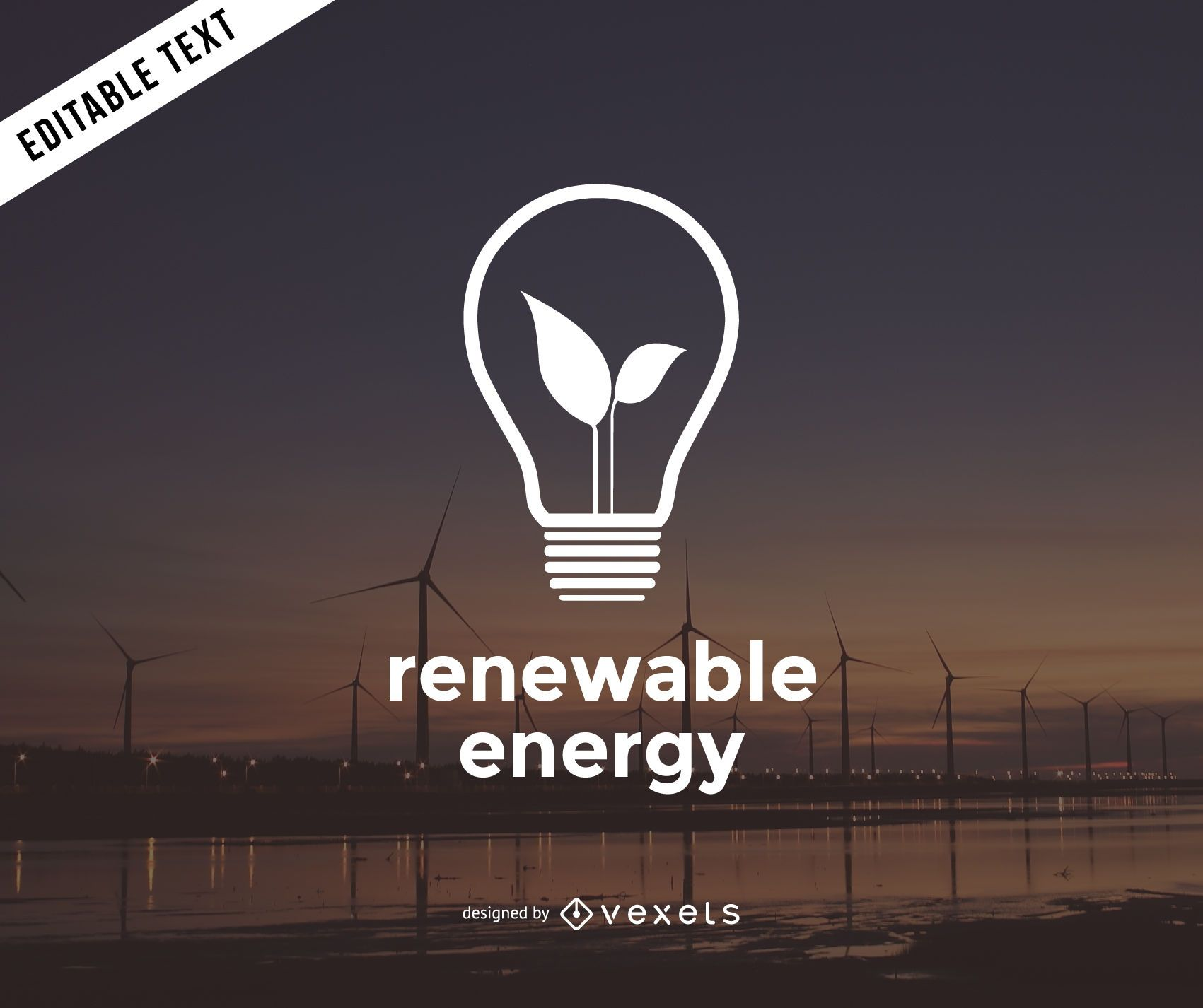Plantilla de logotipo de energ?a renovable