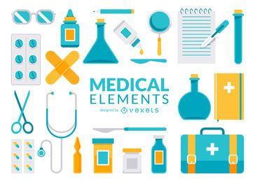 Colección de elementos médicos