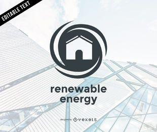 Modelo de logotipo de energia renovável plano