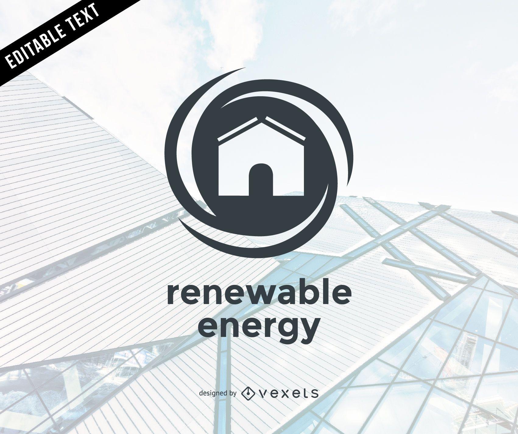 Flat renewable energy logo template