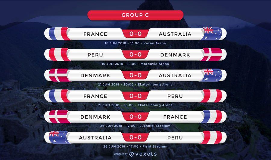 Equipamento Rússia 2018 do Grupo C
