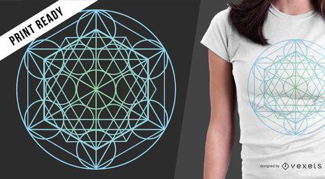 Diseño de camiseta de geometría sagrada.