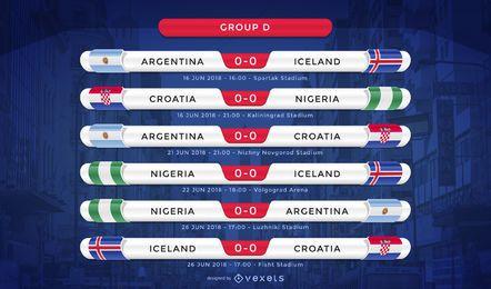Rússia 2018 grupo D fixture