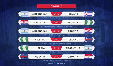 Russia 2018 group D fixture