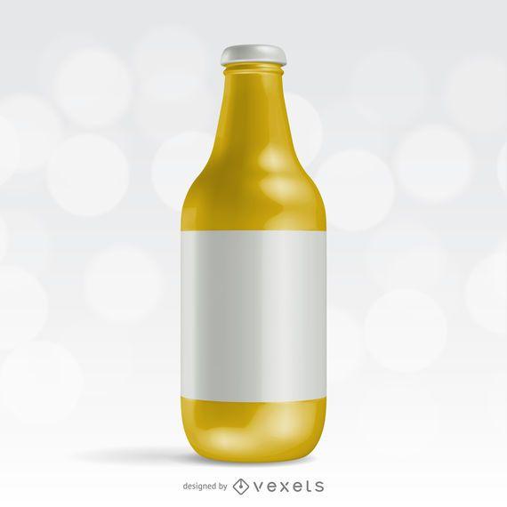 Maquete de embalagem de garrafa realista