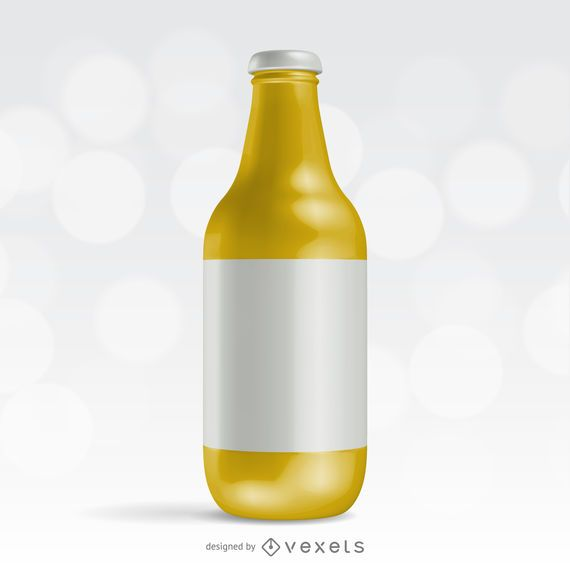 Realistic bottle packaging mockup