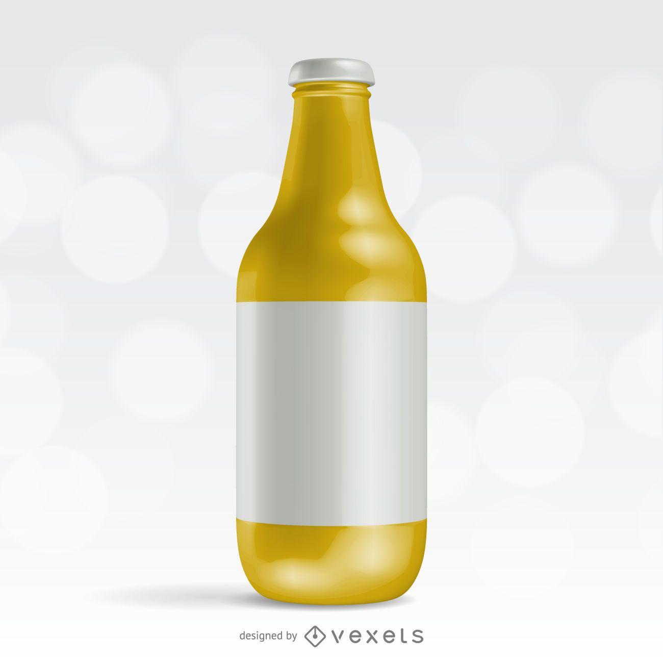 Realistic bottle packaging design