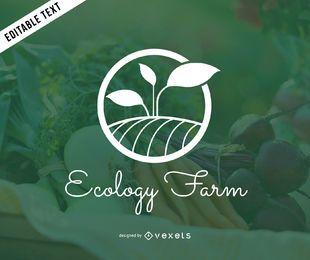 Ecología granja logotipo plantilla maqueta