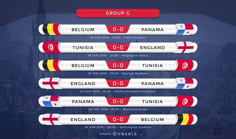 Rusia 2018 Copa del mundo grupo G accesorio