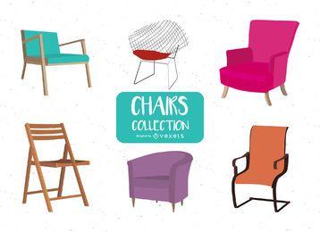 Pacote de ilustrações de cadeira