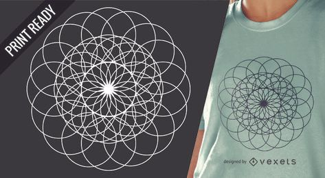 Sacred geometry t-shirt design illustration