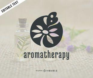 Modelo de logotipo da aromaterapia