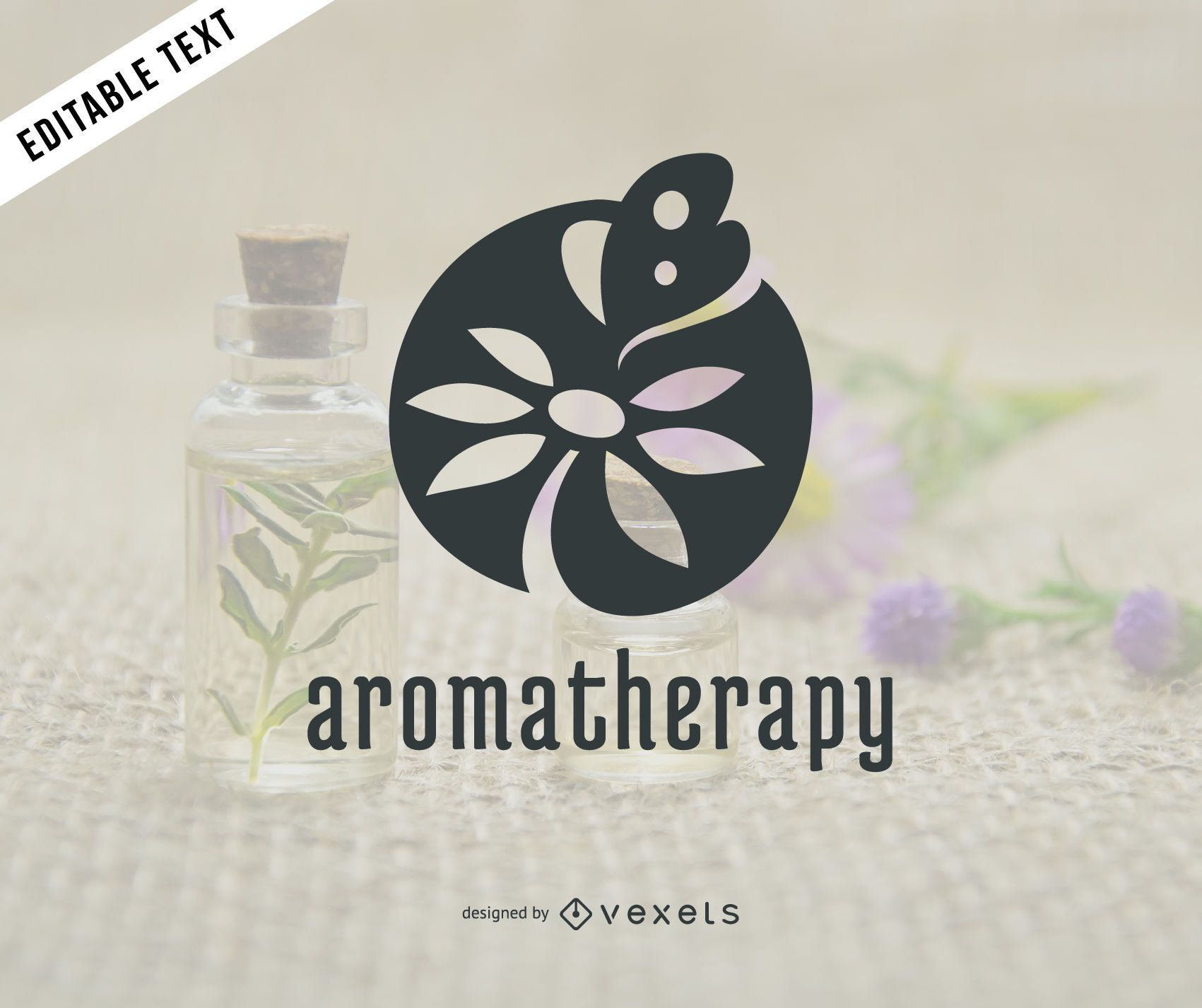 Aromatherapy Logo Template Vector Download