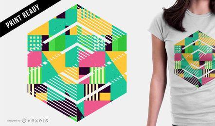 Diseño geométrico abstracto de la camiseta