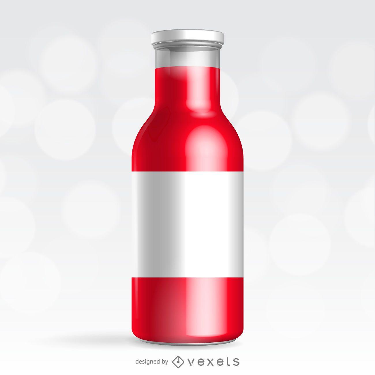 Red bottle packaging design