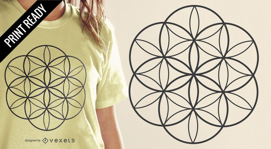 Flower of life t-shirt design