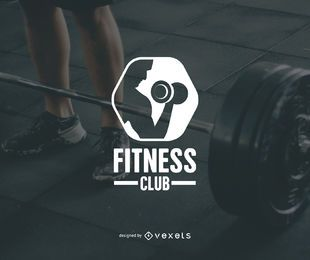 Modelo de logotipo do clube de fitness