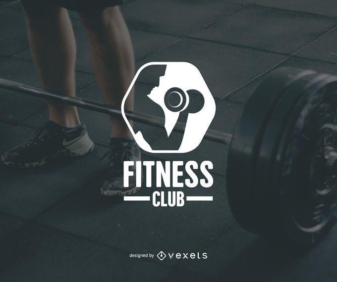 Modelo de logotipo do clube de fitness