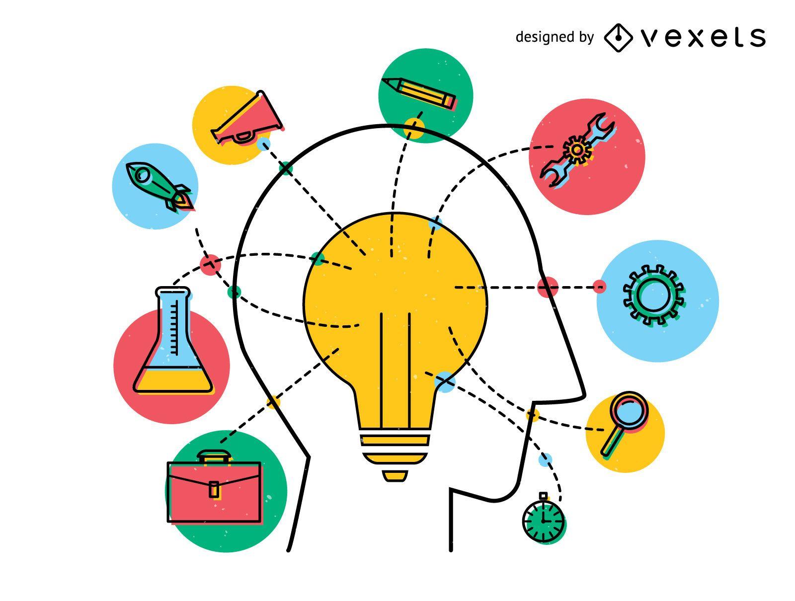 Innovation concept idea design