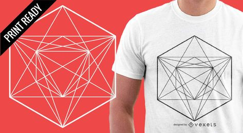 Geometría sagrada para un diseño de camiseta