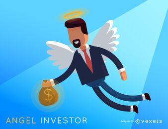 Ilustração de investidor de anjo