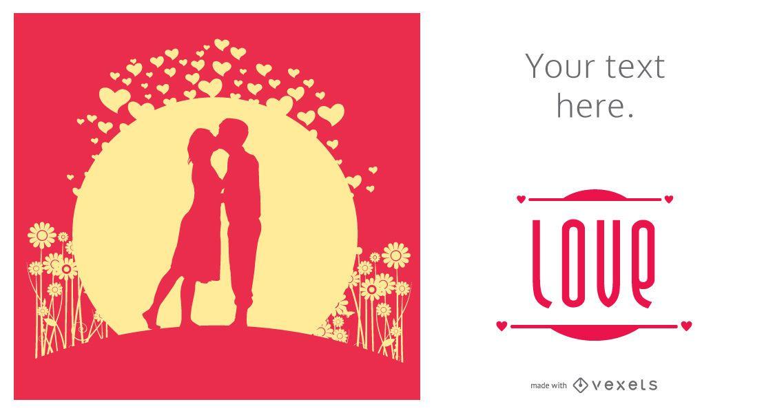 Valentine's Day illustrated card maker