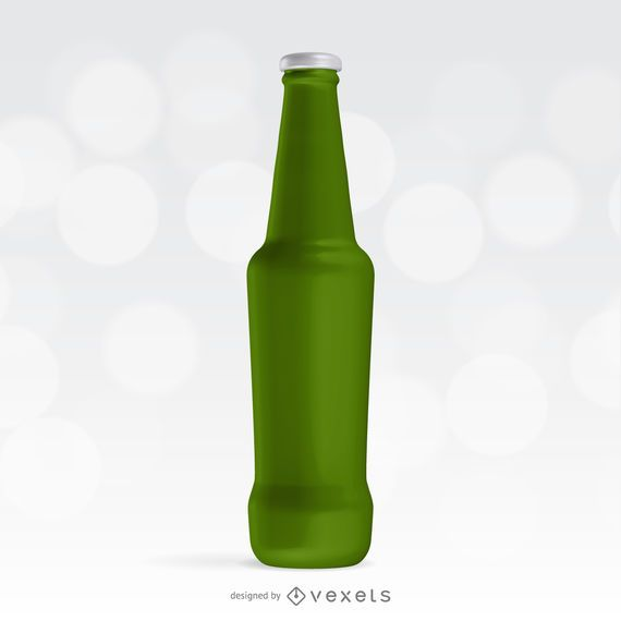 Modelo de maquete de garrafa de refrigerante