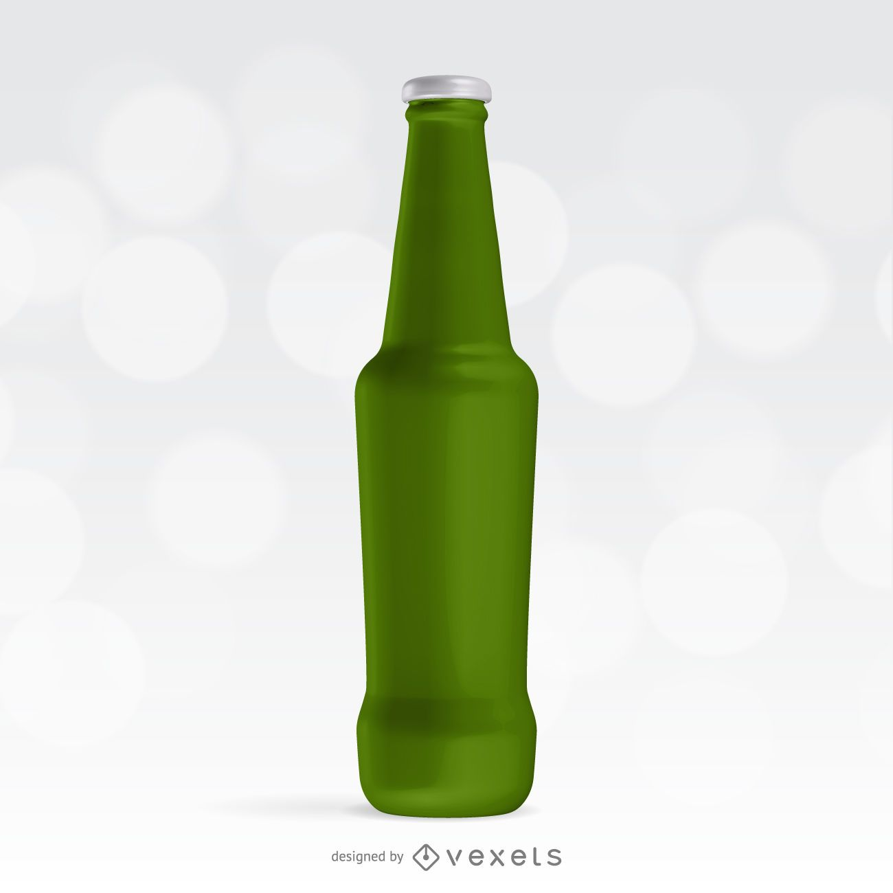 Soda bottle illustrated packaging