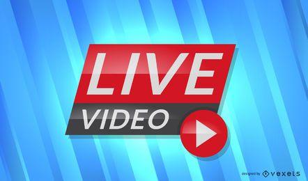 Encabezado de noticias de video en vivo