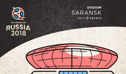 Rússia 2018 estádio Saransk