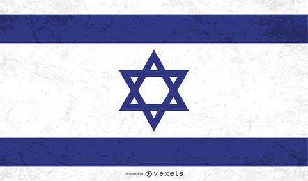 Bandeira de Israel afligida