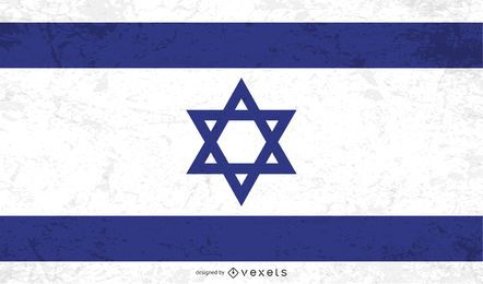 Distressed Israel flag
