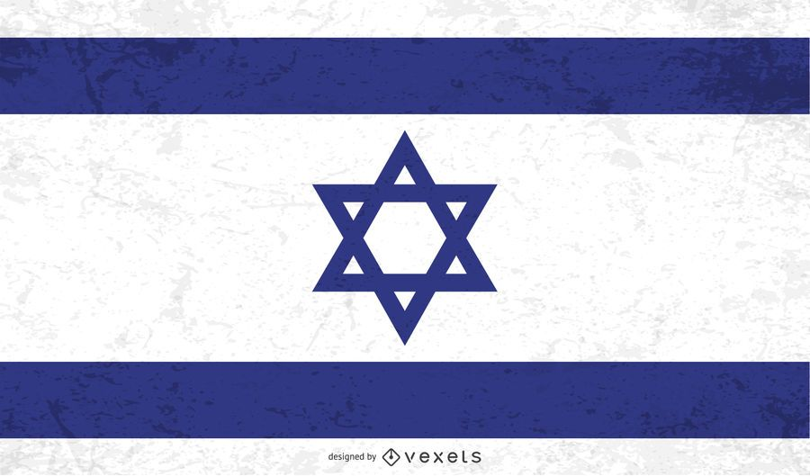 Bandera angustiada de israel