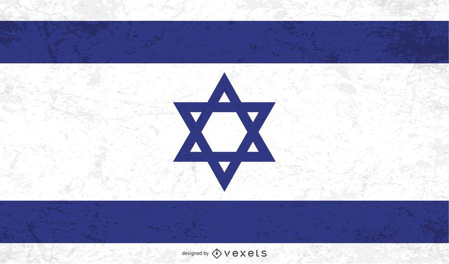 Distressed Israel flag