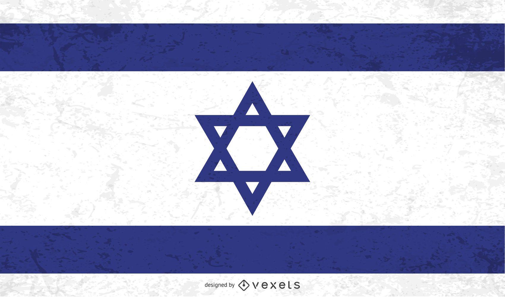 Bandeira angustiada de Israel