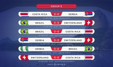 Russia 2018 group E fixture