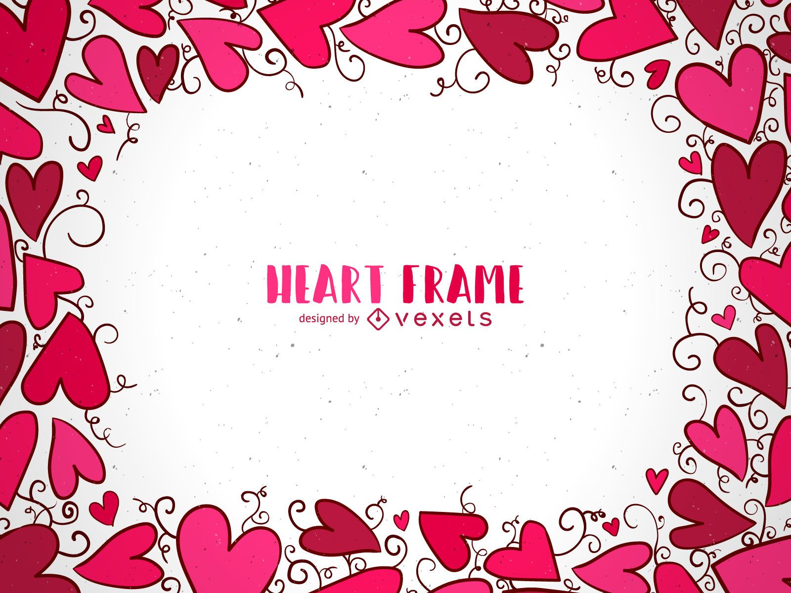 Marco de corazón dibujado a mano de San Valentín - Descargar vector