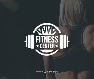 Fitness center gym logo template