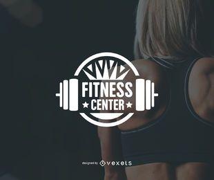 Modelo de logotipo de ginásio centro de fitness