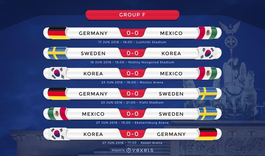 Rússia 2018 grupo F fixture