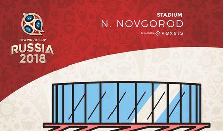 Rússia 2018 estádio Novgorod