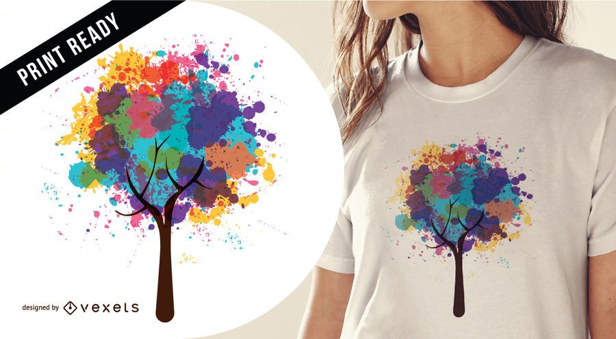 Abstract tree t-shirt design