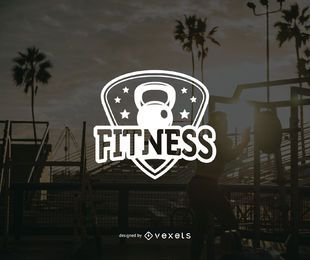 Fitness logo badge template