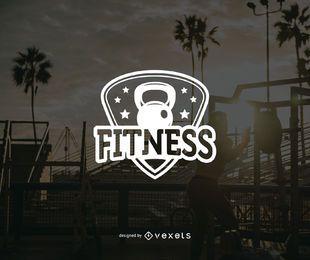 Modelo de crachá de logotipo de fitness