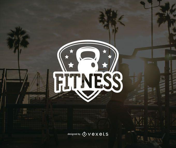 Plantilla de insignia de logotipo de fitness