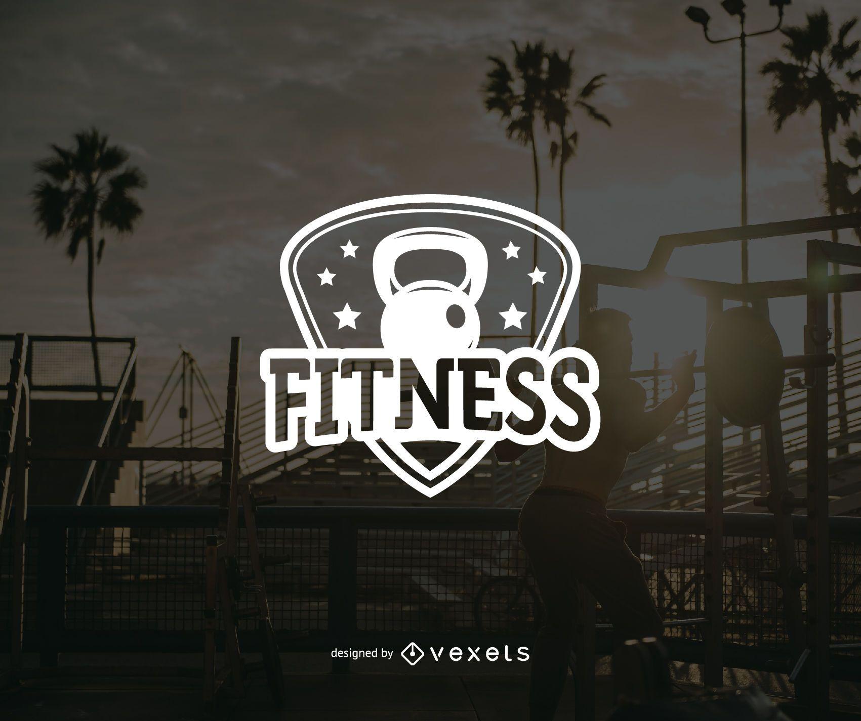 Fitness logo badge template