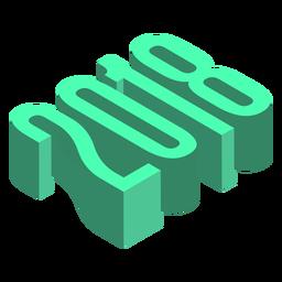 2018 3d green logo